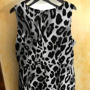 Ann Taylor Animal Print Sheath Dress Size 18.